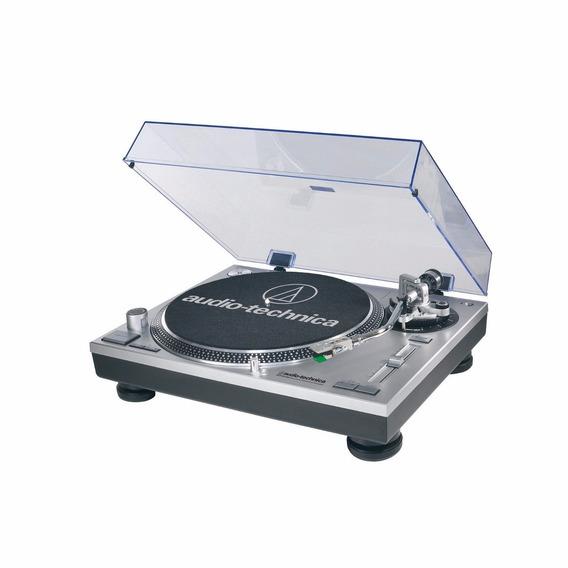 Toca Discos Audio Technica At-lp120 Usb Profissional Prata