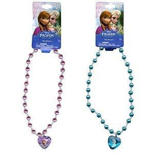 Disney Congelados Femeninos 16 Collar De Perlas Con 3d Coraz