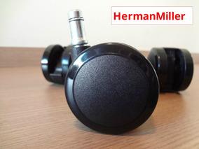 Jogo De Rodizio Original P/ Cadeiras Herman Miller *sem Uso*