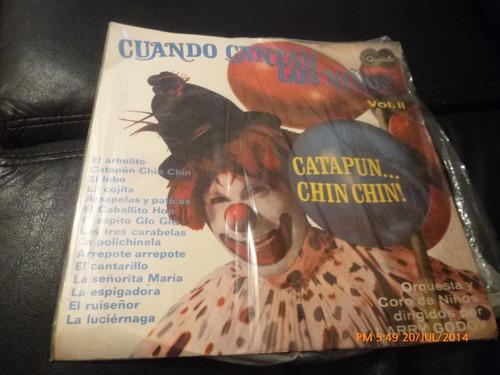 Vinilo Lp De Larry Godoy Cuando Cantan Los Niños (u126