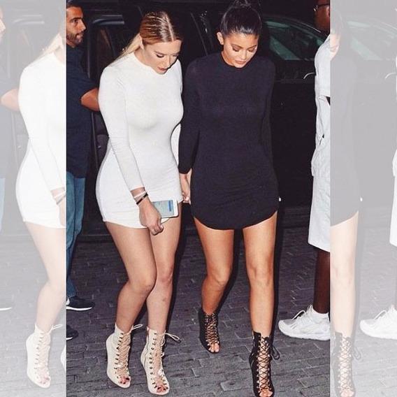 Vestido Kylie Jenner Vestidos Femeninos Curto Com O