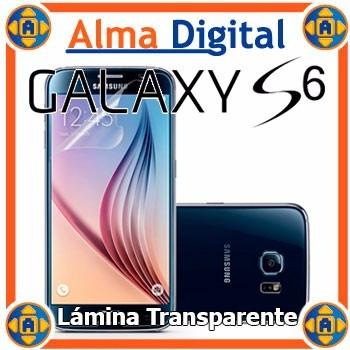 Lamina Protector Pantalla Transparente Samsung S6 Galaxy