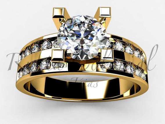 Anel Solitário - Top Desing - Luxo Diamantes 90 Pontos