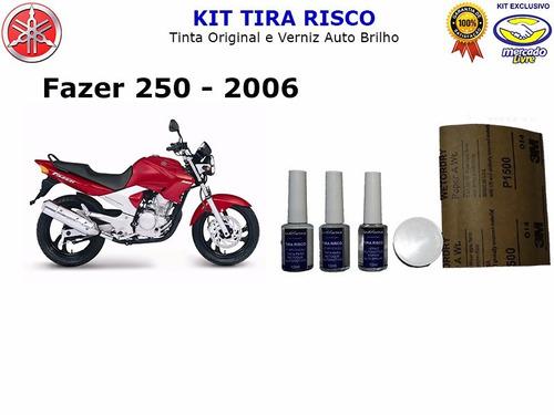 Imagem 1 de 5 de Tira Risco Moto Yamaha Fazer 250 - Vermelho Metálico - 2006