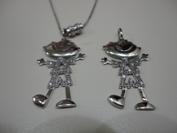 Ivi1388 =colar Vivara O.branco ,diamantes C/2 Meninos !!!