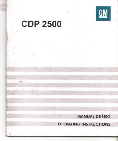 Manual Proprietario Som Auto Radio Vectra Chevrolet Cpd 2500