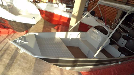 Casco Lancha Aluminio Premium 500 Semi Chata