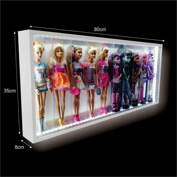 Estante Expositor Led - 10 Barbies -monster High Frozen Casa