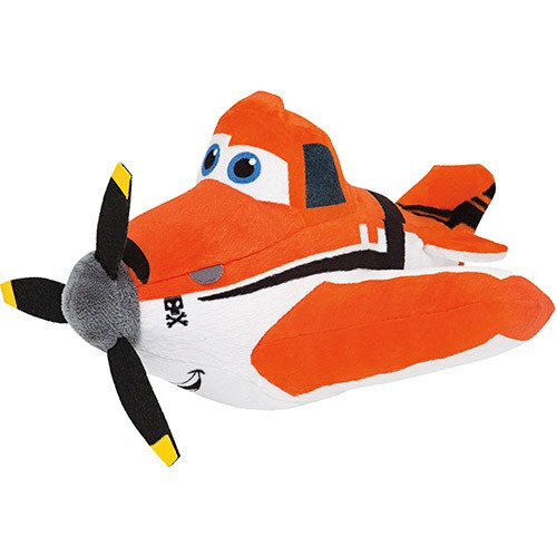Pelucia Infantil Desenho Avioes Disney Dusty 25cm Long Jump R
