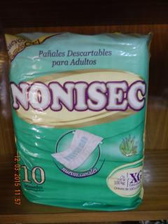 Bolson Pañales C/ Gel Adultos Nonisec Xg 75 A 100 Kilos