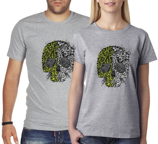 Remera Calavera - Estampados Con Onda - Diseño Exclusivo