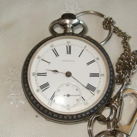 Relógio De Bolso Longines - 10 Medalhas - Em Prata!!
