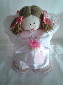 Boneca Peso Porta Artesanal Anjo Da Guarda Menina Decoração