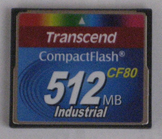 Memoria Compact Flash Transcend 512mb 80x