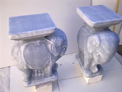 Elegantes Pedestales Elefante De Hormigon