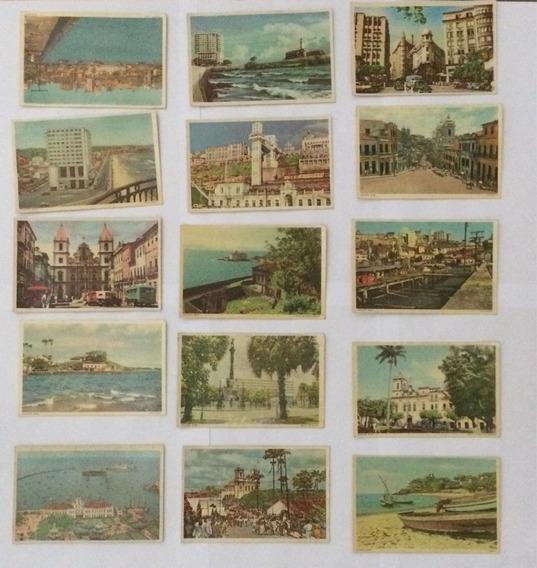 Cartão Postal Antigo - 15uni - Salvador Bahia