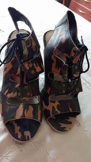 Liquido Zapatos De Mujer Nuevos Camuflado Viamo 39.5