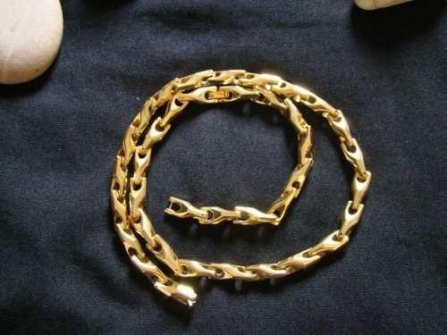 Cordão Em Tungstênio Banhado A Ouro 18k