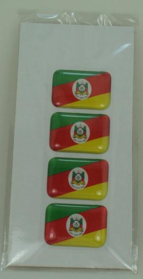 4 Bandeirinhas Rio Grande Do Sul Tarjeta Adesivo Placa$
