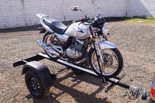 Imagem 1 de 9 de Carreta Reboque 1 Moto Slim - Bravo Chassi 04
