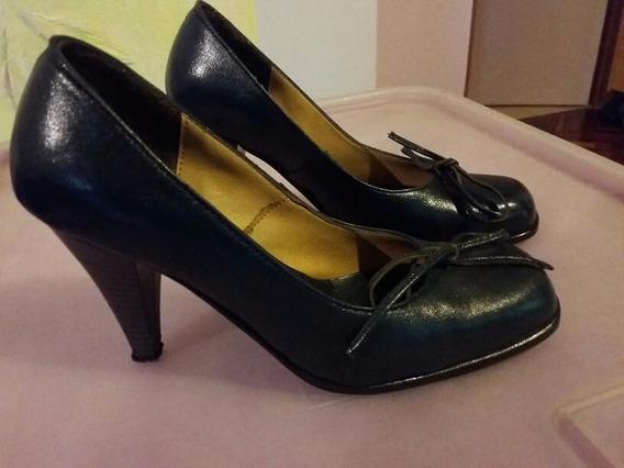 Zapatos Mujer Cuero T 35.5/24cm