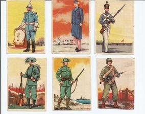 6 Figurinhas Do Álbum Bandeiras E Uniformes - Anos 60.