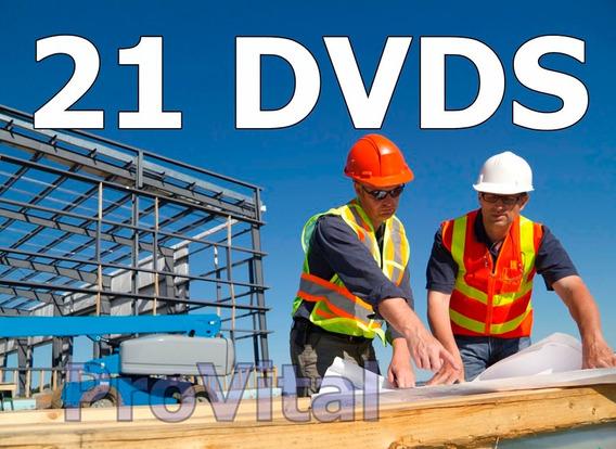 Curso De Pedreiro Mestre De Obras Construção Com 21 Dvds