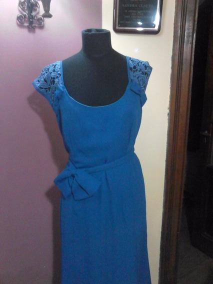 Vestido De Fiesta Azul Largo Hermoso!