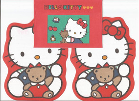 Conjunto Papel De Carta Hello Kitty Antigo - Ano 1991
