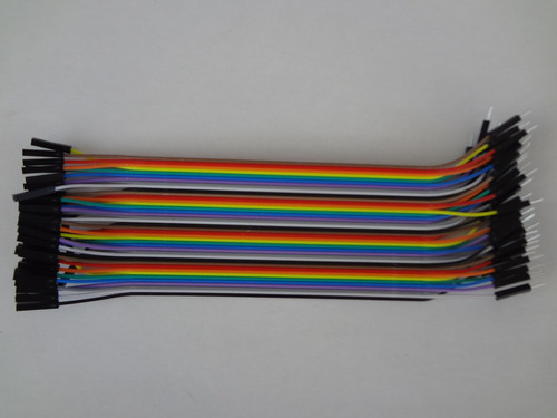 40 Cabos Jumper Macho-femea 20cm De Protoboard  P/ Arduino