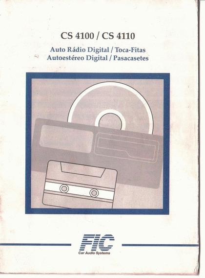 Manual Proprietario Som Auto Radio Ford Cs 4100 E Cs 4110