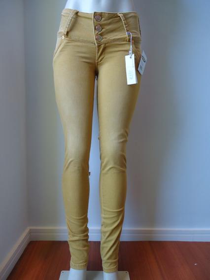 Calça Feminina #ri19 Skinny #amarela Mostarda