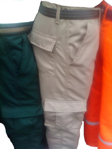 ****pantalon Cargo, En Drill Multibolsillo Remate***