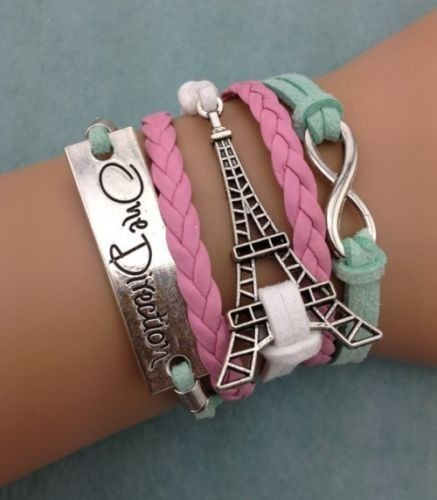 Bracelete Couro Sintético Torre Eiffel - One Direction