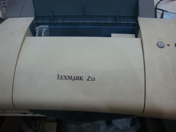 Impressora Lexmark Z 35 Com Fonte E Cartuchos Usados S/garan