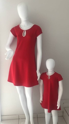 48d1785293130c Vestido Tal Mãe Tal Filha Vermelho - Natal