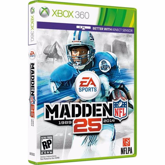 Jogo Mídia Física Madden Nfl 25 Para Xbox 360 Ntsc