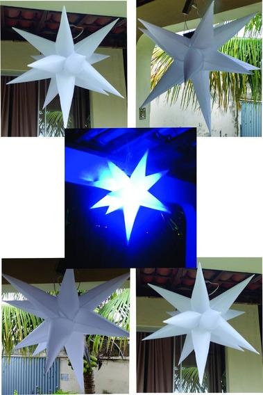 5 Estrelas Infláveis Sputinik,13 Pontas, 80cm, Tecido Dj