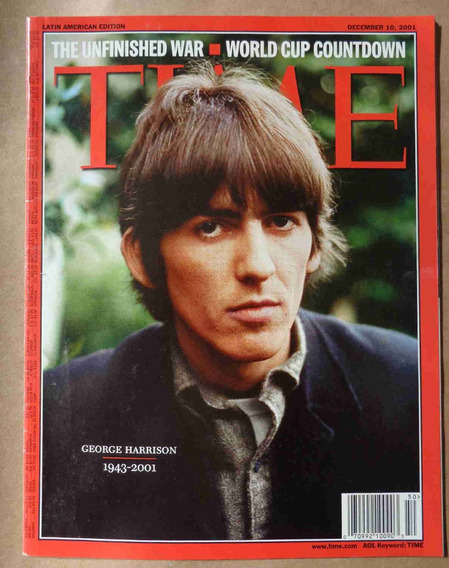 Beatles Revista Time Morte De George Harrison Dezembro 2001