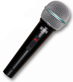 Microfone Csr Dinâmico Super Cardioide Pro 2.1 Cabo Bolsa
