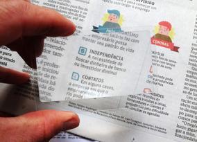 Lupa 3x Plástica Tamanho Cartão De Crédito