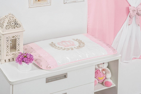 Trocador Baby Princesa Rosa 01 Peça