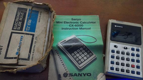 Calculadora Sanyo Original Com Caixa E Manual Cz-8106