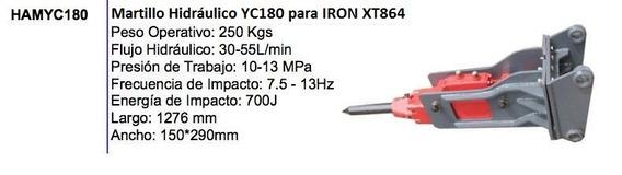 Martillo Hidraulico Iron H180 P/ Retro Case, Cat