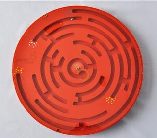 Juego Panel Pared Buscacaminos Giratorio Circulo 40x40cm Pp