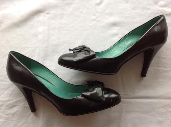Súper Sale! Sibyl Vane. Zapatos Cuero Negro. (con Detalle)