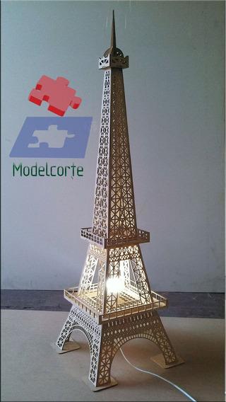 3x Luminária Torre Eiffel Mdf 3mm 1,15m - 3d Para Montar