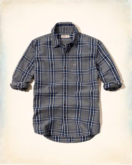 Camisa Hollister Social Casual Masculina Xadrez Importadas