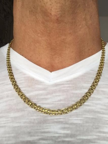 Colar Italiano Ouro 18k-750 Peso: 22.3g Tam 54cm-unisex.