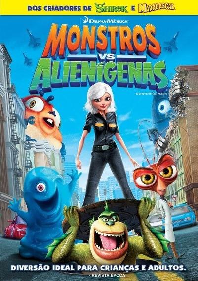Dvd Original Monstros Vs Alienígenas